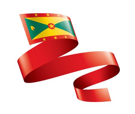 Grenada national flag, vector illustration on a white background Ilustração