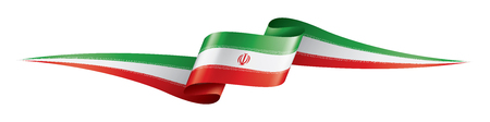 Iran flag, vector illustration on a white background 写真素材 - 122137351