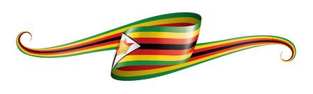 Zimbabwe national flag, vector illustration on a white background Foto de archivo - 122388961