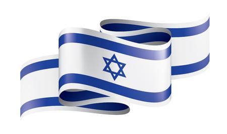 Israel national flag, vector illustration on a white background Ilustração