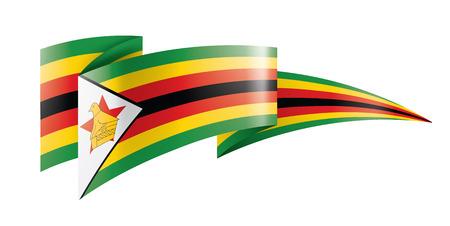 Zimbabwe national flag, vector illustration on a white background