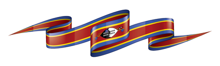 Swaziland national flag, vector illustration on a white background