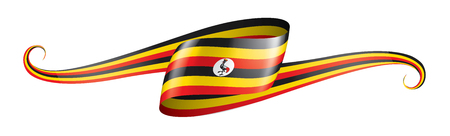 Uganda national flag, vector illustration on a white background Illustration