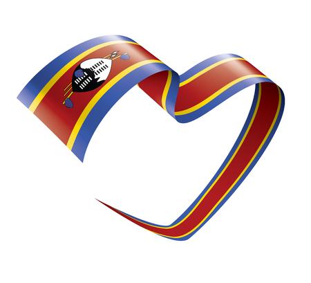 Swaziland national flag, vector illustration on a white background Векторная Иллюстрация