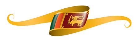 Sri Lanka national flag, vector illustration on a white background 矢量图像