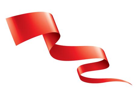 Red sticker on white background. Vector illustration. Vector Illustratie
