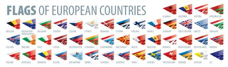 Set of flags of Europe. Vector illustration 일러스트