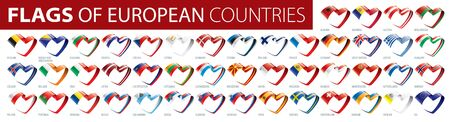 Set of flags of Europe. Vector illustration Illustration
