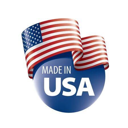 USA flag, vector illustration on a white background