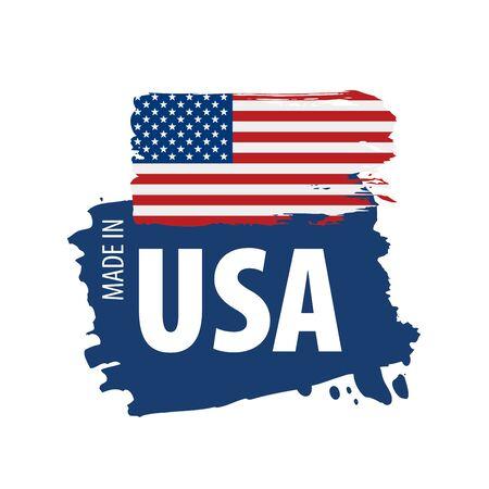 USA flag, vector illustration on a white background. Illustration