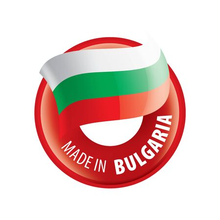 Bulgaria flag, vector illustration on a white background Illustration