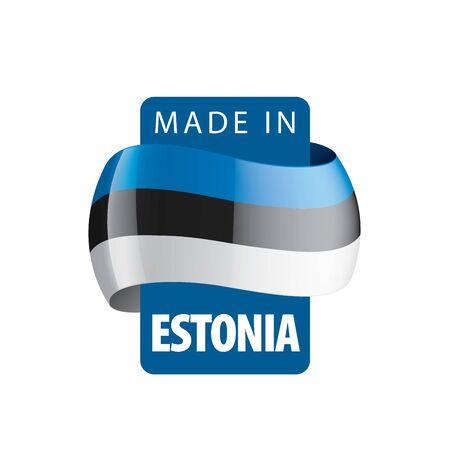 Estonia flag, vector illustration on a white background
