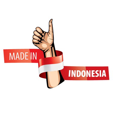 Indonesia flag, vector illustration on a white background. Imagens - 130152913