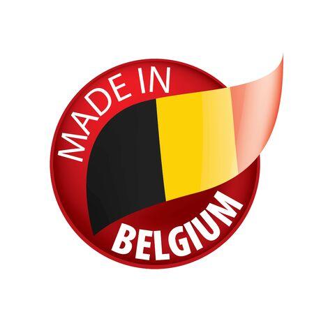 Belgium flag, vector illustration on a white background. Imagens - 130154202