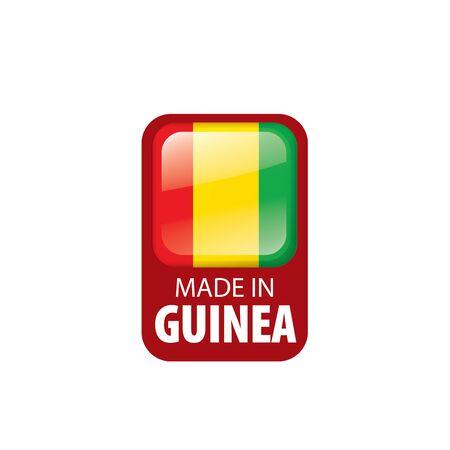 guinea flag, vector illustration on a white background. Imagens - 130158186