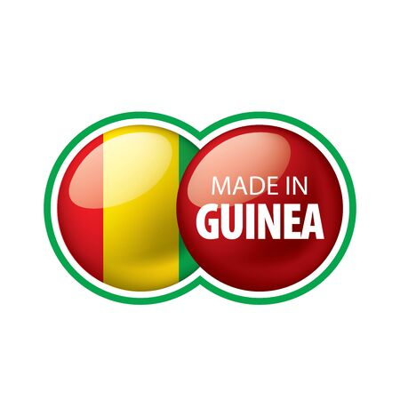 guinea flag, vector illustration on a white background