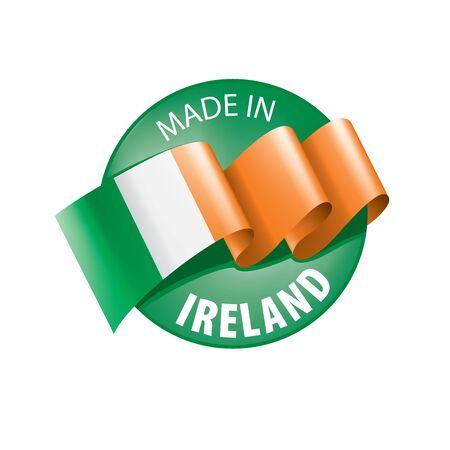 Ireland flag, vector illustration on a white background