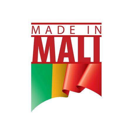 Mali flag, vector illustration on a white background. Иллюстрация
