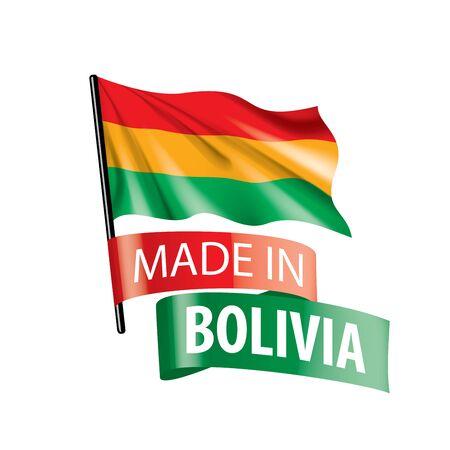 Bolivia flag, vector illustration on a white background. Иллюстрация