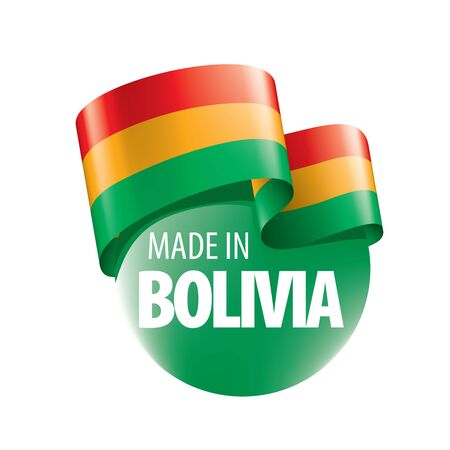 Bolivia flag, vector illustration on a white background.