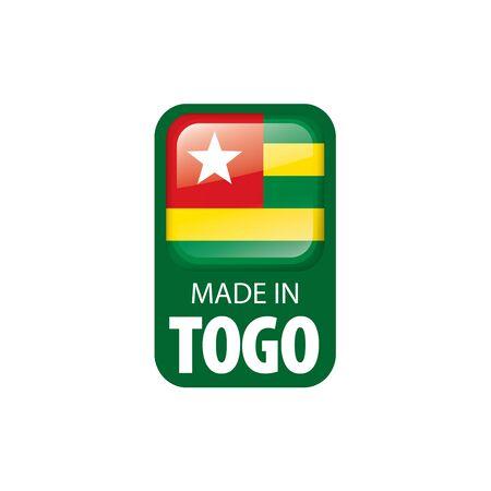 togo flag, vector illustration on a white background.