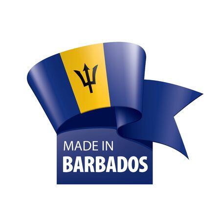 Barbados flag, vector illustration on a white background. Vecteurs