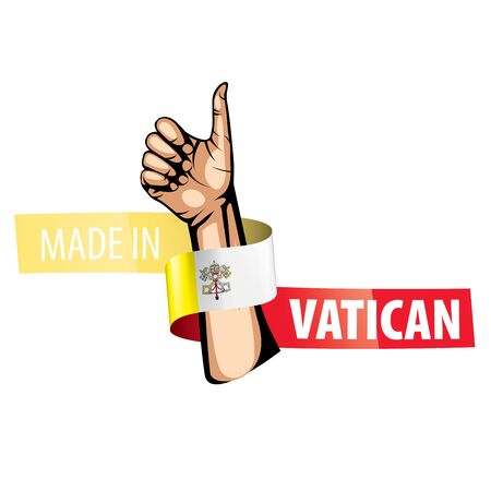 Vatican national flag, vector illustration on a white background