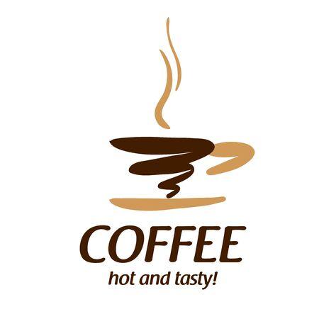 Koffie . Vectorillustratie op witte achtergrond