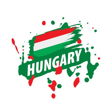 Hungary flag, vector illustration on a white background