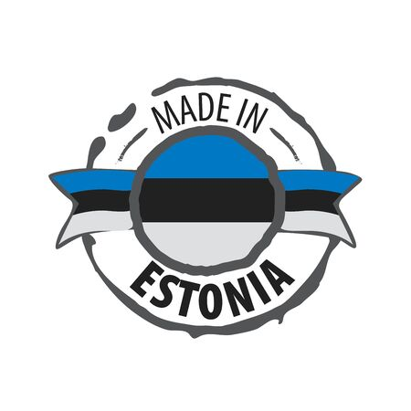 Estonia flag, vector illustration on a white background