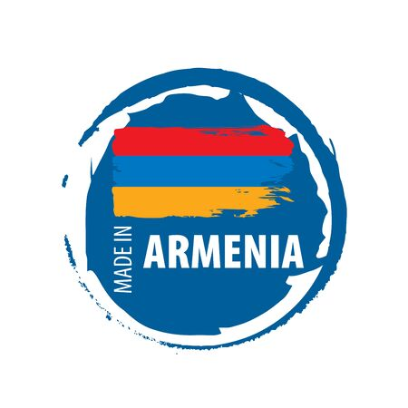 Armenia flag, vector illustration on a white background