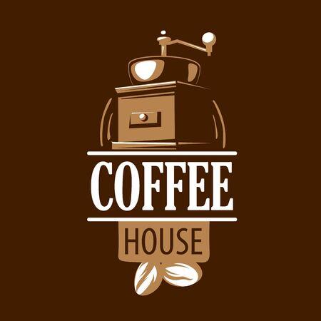 Coffee . Vector illustration on brown background Ilustração