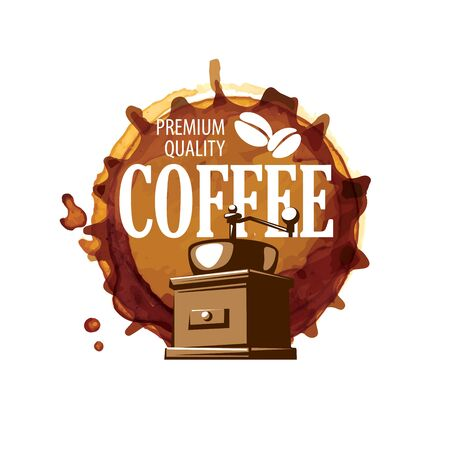 Coffee . Vector illustration on white background