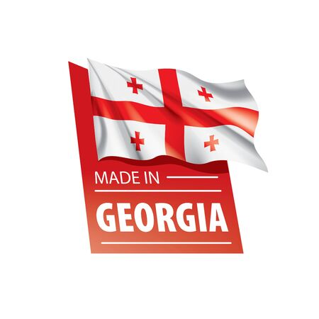 Georgia flag, vector illustration on a white background Ilustracja