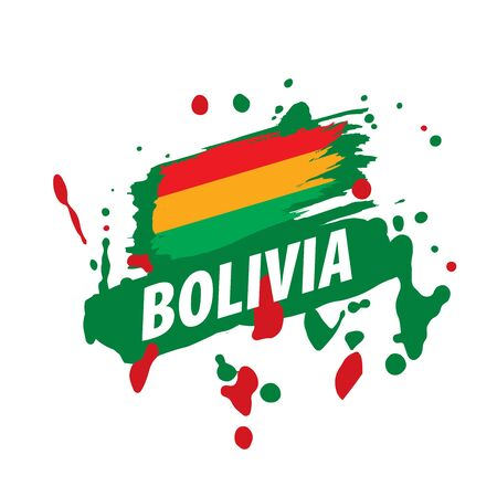 Bolivia flag, vector illustration on a white background. 向量圖像