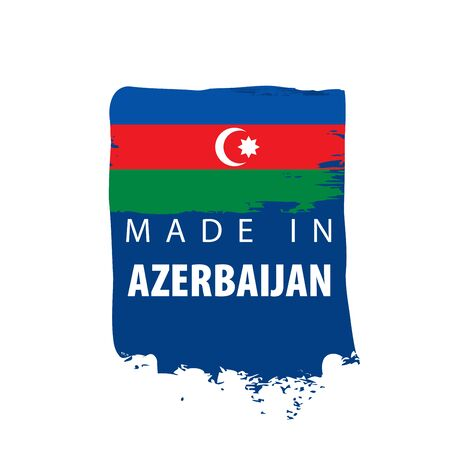 Azerbaijan flag, vector illustration on a white background