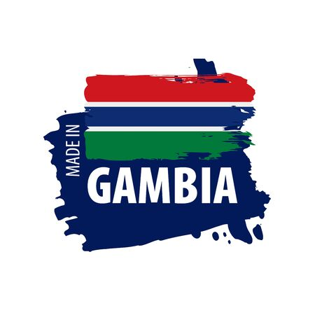 Gambia flag, vector illustration on a white background 스톡 콘텐츠 - 133561712