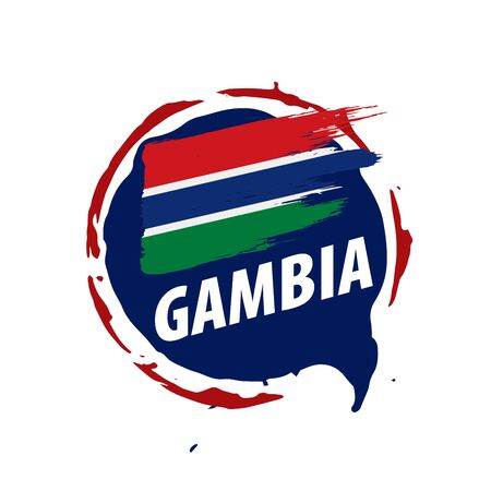 Gambia flag, vector illustration on a white background 스톡 콘텐츠 - 133561725