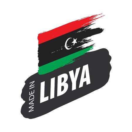 Libya national flag, vector illustration on a white background 스톡 콘텐츠