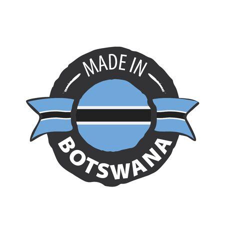 Botswana flag, vector illustration on a white background