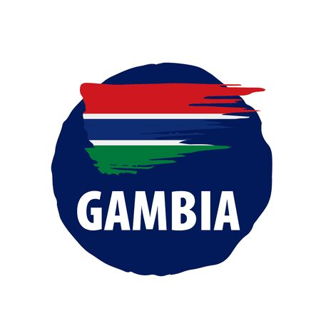 Gambia flag, vector illustration on a white background 스톡 콘텐츠 - 133562415