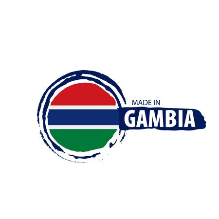 Gambia flag, vector illustration on a white background 스톡 콘텐츠 - 133562412