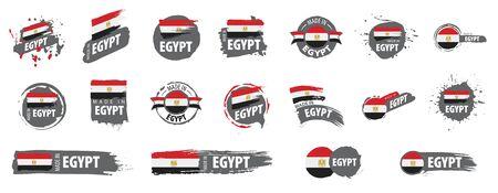 Egypt national flag, vector illustration on a white background 向量圖像