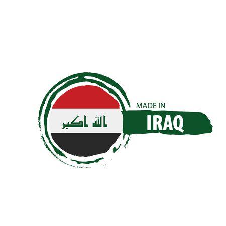 Drapeau national irakien, illustration vectorielle sur fond blanc