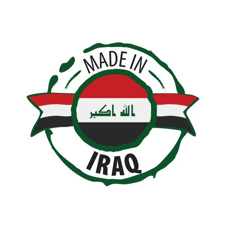 Iraqi national flag, vector illustration on a white background