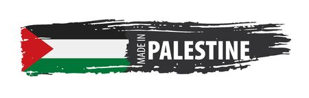 Palestine flag, vector illustration on a white background