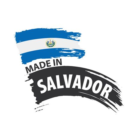 Salvador flag, vector illustration on a white background