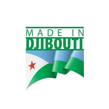 Djibouti flag, vector illustration on a white background