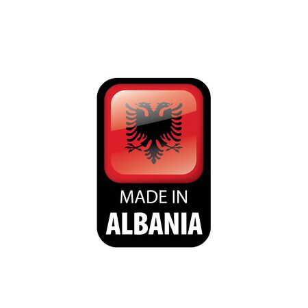 Albania national flag, vector illustration on a white background