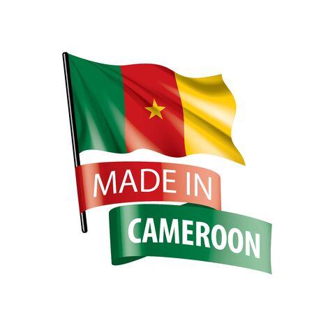 Cameroon flag, vector illustration on a white background Ilustração